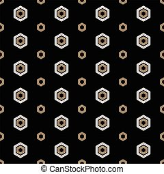 Seamless Geometric Abstract Pattern from Hexagons