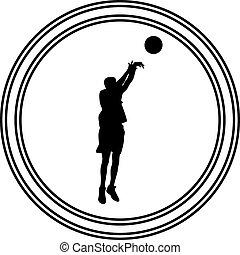 baloncesto, jugador,