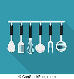 kitchenware utensil cooking tool - set with different types...