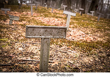 Unknown Grave - Metal marker at unknown grave