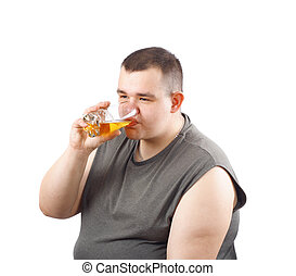 beer bibber, photo on the white background