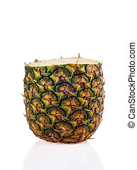 Fresh sliced pineapple on white background - Fresh sliced...
