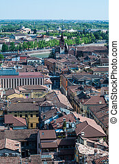 Beautiful view from the tower lamberti of Verona