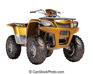 ATV Quad Bike - ATV quad bike isolated on white background