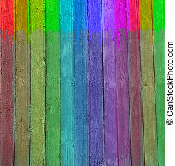 Original background in the form of a multi-coloured wooden...