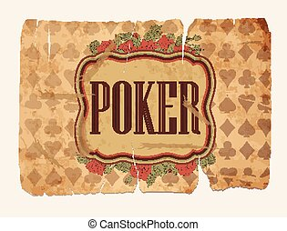 Vintage casino poker wallpaper