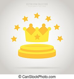 Winner isolated badge, label or sticker, vector