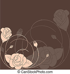 Abstract rose flower pattern