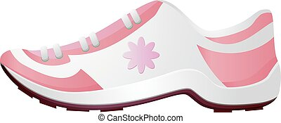 Pink running shoes vector