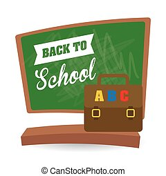 Flat illustration of Back to School design - Back to school...