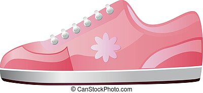 Pink sneaker for females vector