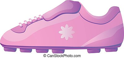 Pink soccer shoes for female vector