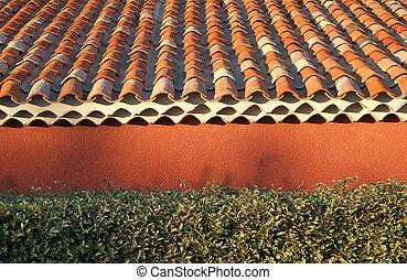 Terracotta roof tiles - terracotta roof tiles with orange...