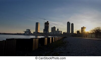 Milwaukee Wisconsin Downtown at Sunset - Milwaukee Wisconsin...