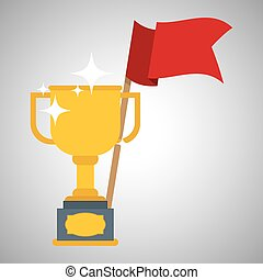 Flat illustration about achievement design - Achievement...