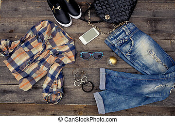 Women's casual clothes and accessories