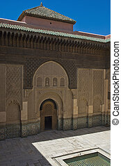 Marrakesh, Morocco - Former Islamic college, the Ben Youssef...