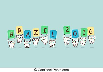 brazil tooth holding billboards
