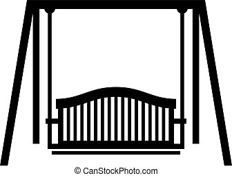 Swing seat, shade picture