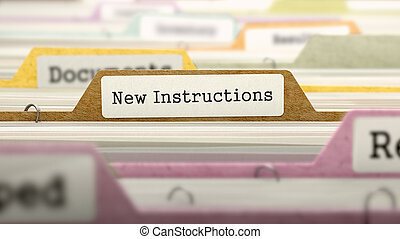New Instructions Concept on Folder Register - New...