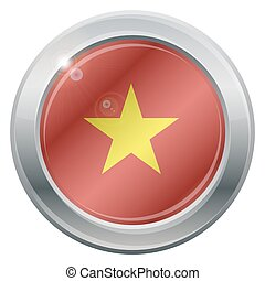 Vietnam Flag Silver Icon - A Vietnam flag silver icon...