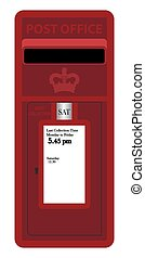 Red Post Box Small