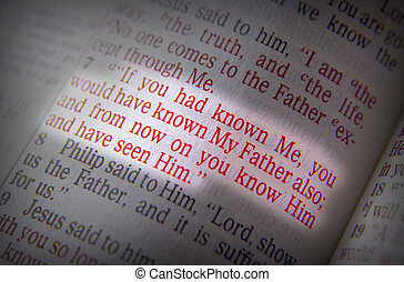 Bible text - If you had known Me - If you had known Me, you...
