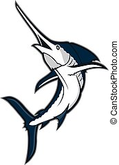 Marlin fish mascot - Clipart picture of a marlin fish...