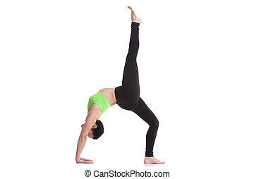 One-legged Upward Bow Pose