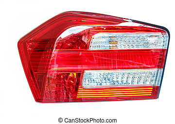 Car back light - Isolated beautiful back light of the car