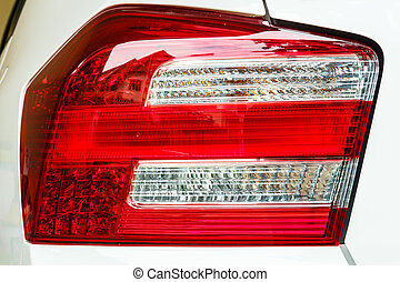 Car back light - A beautiful back light of the car