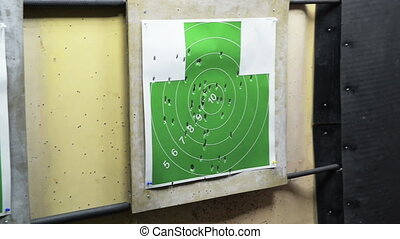 Some shooting targets indoor, dark