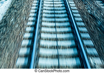 rails with soft - austria, upper austria, linz, wels seen...