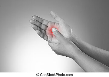 Pain in the joints of the hands. Carpal tunnel syndrome....