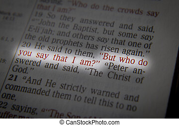 """But who do you say that I am? - He said to them, """"But who do..."""