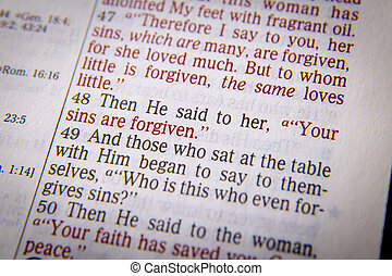 Bible text - YOUR SINS ARE FORGIVEN - Your sins are forgiven...