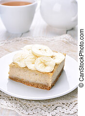 Banana cheese cake, fruit dessert
