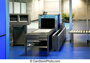 Airport control - Airport security check with detector...