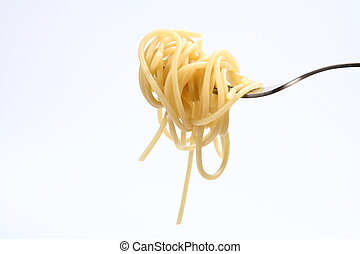 Spaghetti on a fork  - Spaghetti hanging on a fork