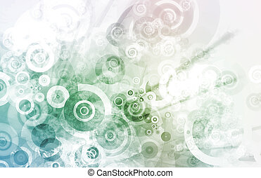 Modern Abstract Background with Many Circles Art