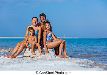 Family at the Dead Sea