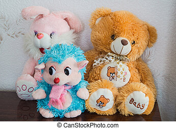 Soft toys - Funny soft toys sitting and waiting children