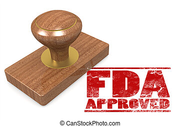FDA approved red rubber stamp image with hi-res rendered...