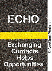 Business Acronym ECHO Exchanging Contacts Helps...