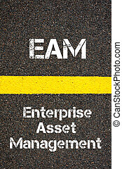 Business Acronym EAM Enterprise Asset Management - Concept...