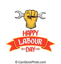 vector happy labour day poster - 1 may - labour day vector...
