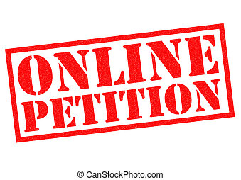 ONLINE PETITION red Rubber Stamp over a white background