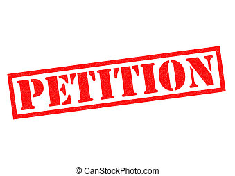 PETITION red Rubber Stamp over a white background.