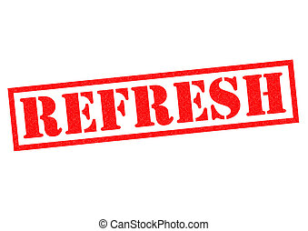 REFRESH red Rubber Stamp over a white background
