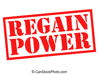 REGAIN POWER red Rubber Stamp over a white background